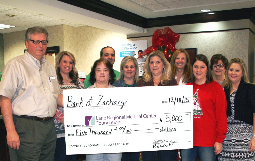 Bank of Zachary Employees Give Back to Community 2015